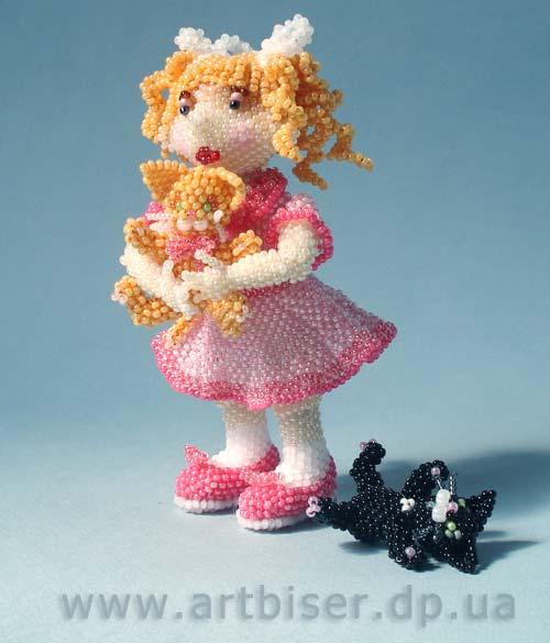 Девочки, сейчас такую красоту в интернете нарыла.  Куколки из биссера. http...